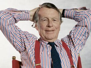 Picture of David Ogilvy in his element.